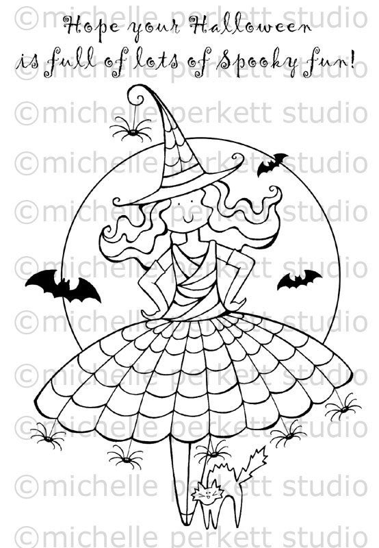 DIGITAL STAMP - SPOOKY SALLY