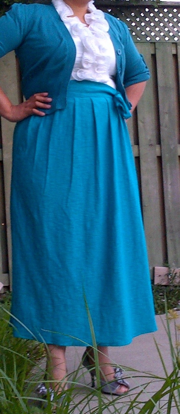 Aqua High Waisted Maxi Skirt