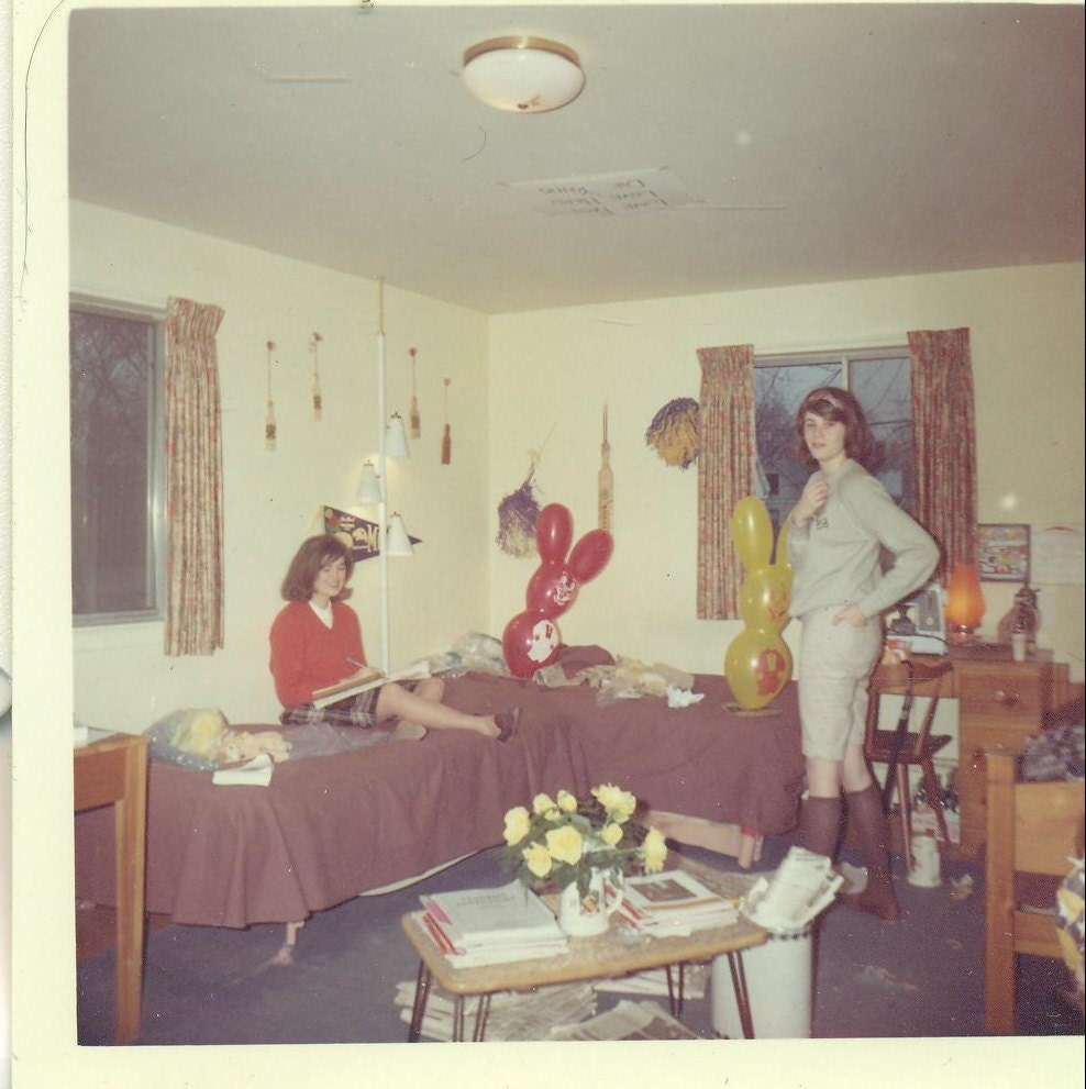 1960s College Sorority Girls In Dorm Room by AlaskaVintage  ~ 170956_Etsy Dorm Room Ideas