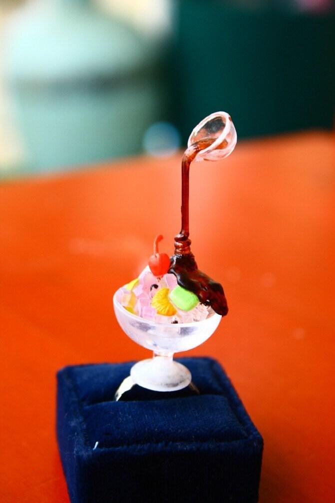 Japanese floating syrup Jello  ring