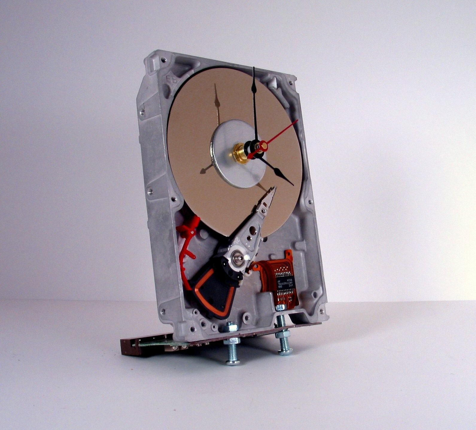 Hard Drive Desk Clock