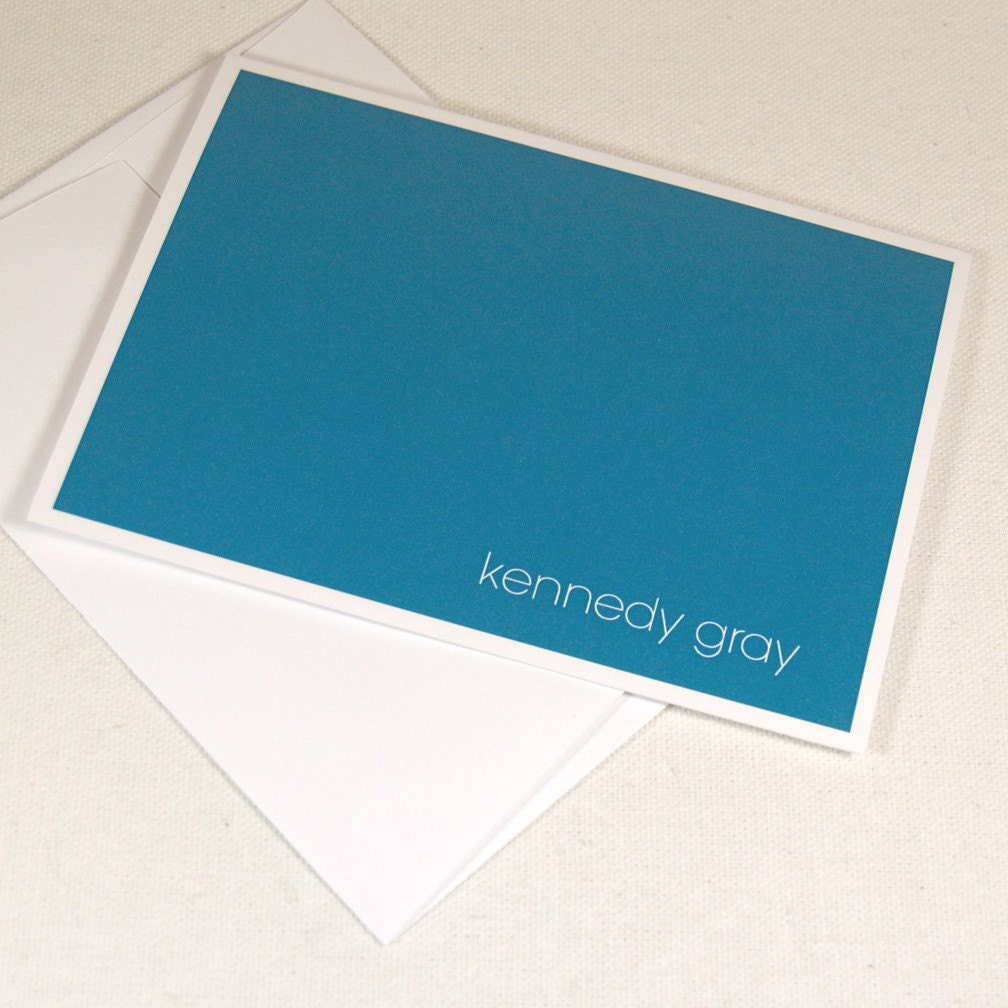 personalized note cards -modern minimalist (8) CHOOSE color