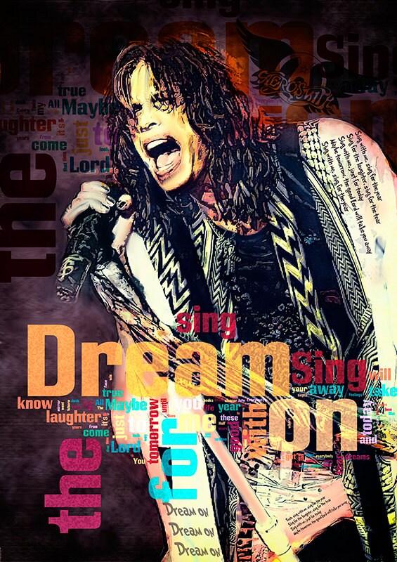 Print Steven Tyler Aerosmith Music Poster Birthday By