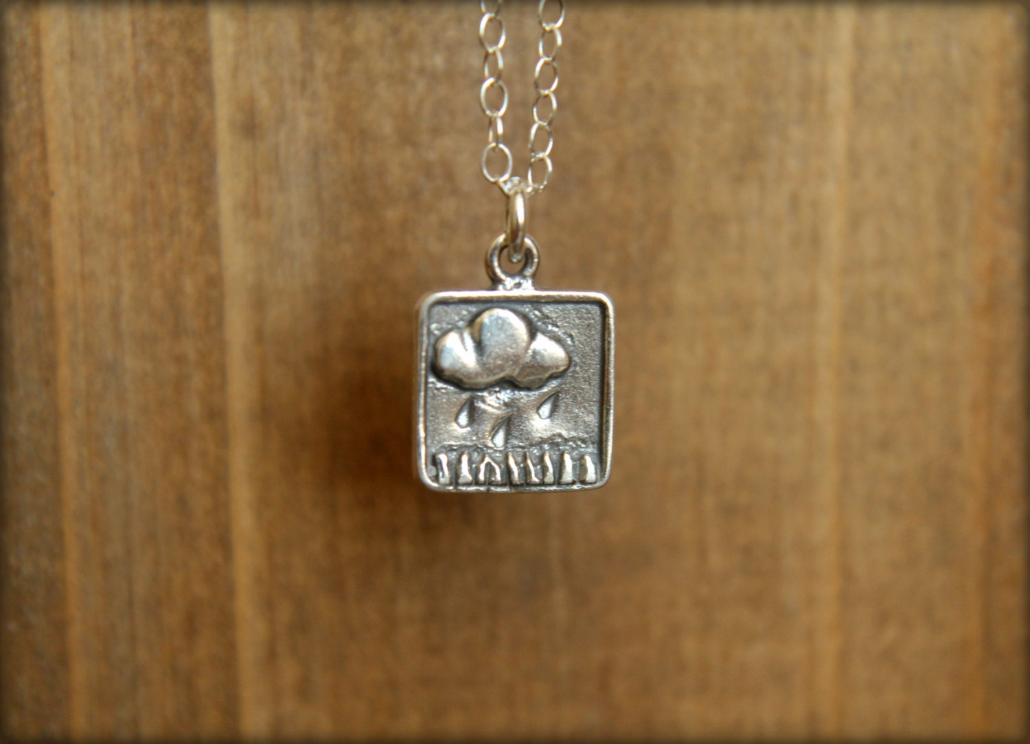 Rain Cloud Necklace in Sterling Silver - saffronandsaege