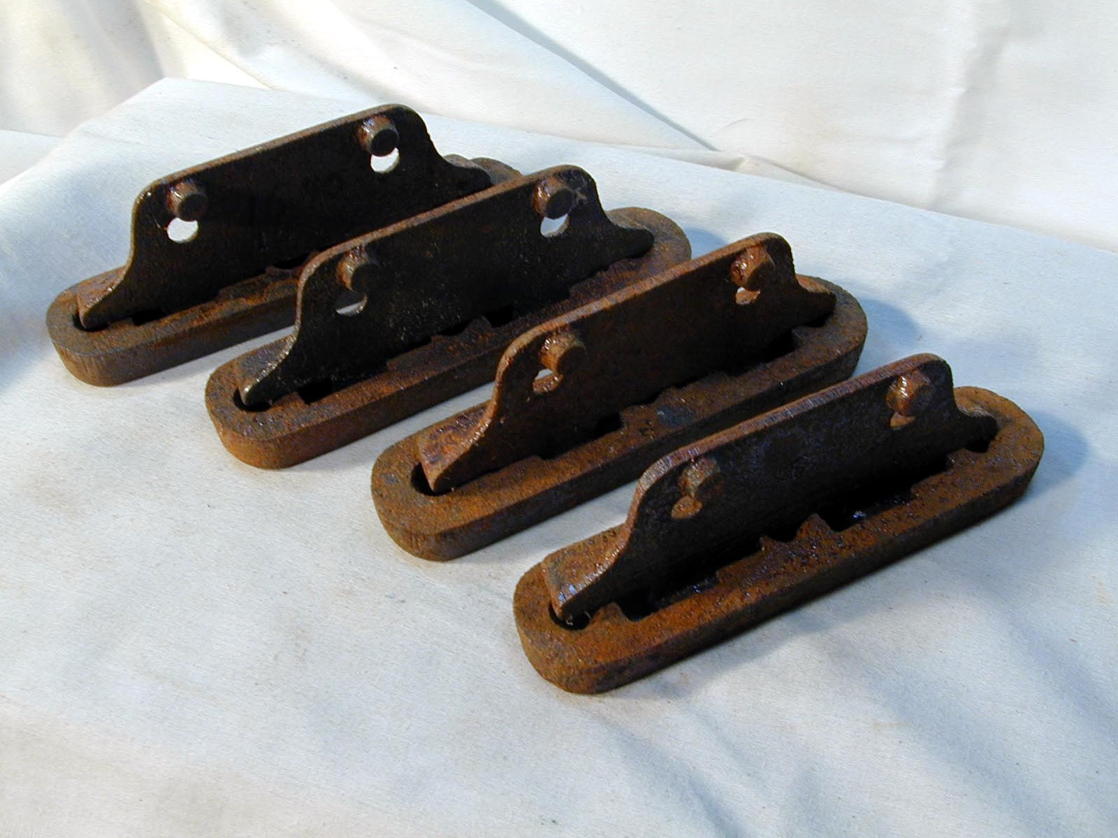 Set Of 4 Cast Iron Bed Rail Fasteners By Lakewaycandles On