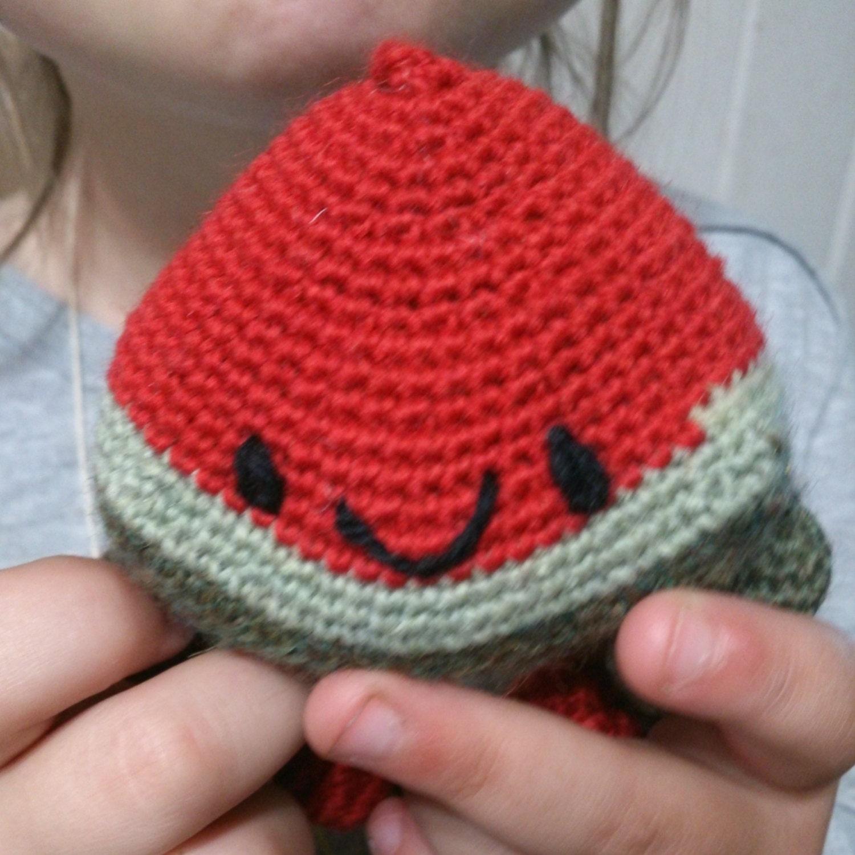 Amigurumi Watermelon : Smiley Slice of Watermelon amigurumi crochet by ...