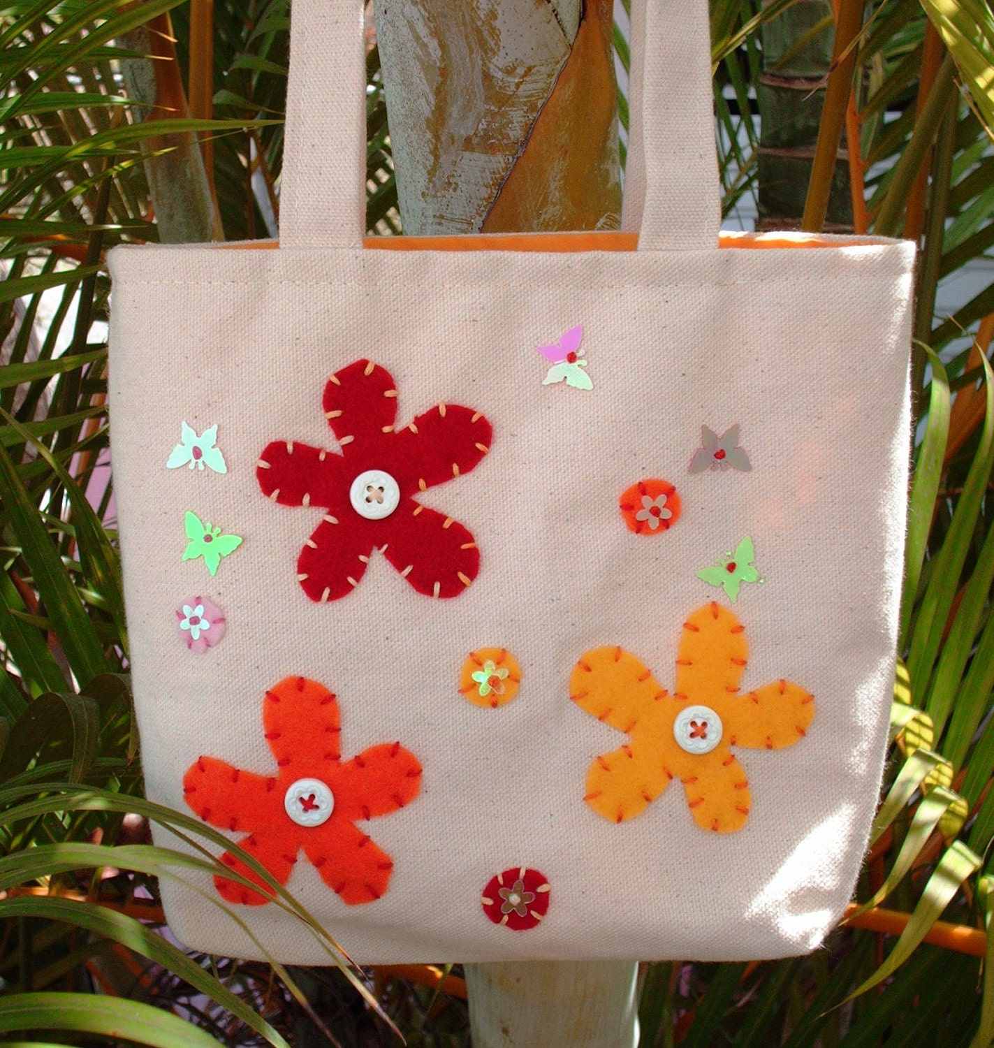Girls Butterfly Garden Tote