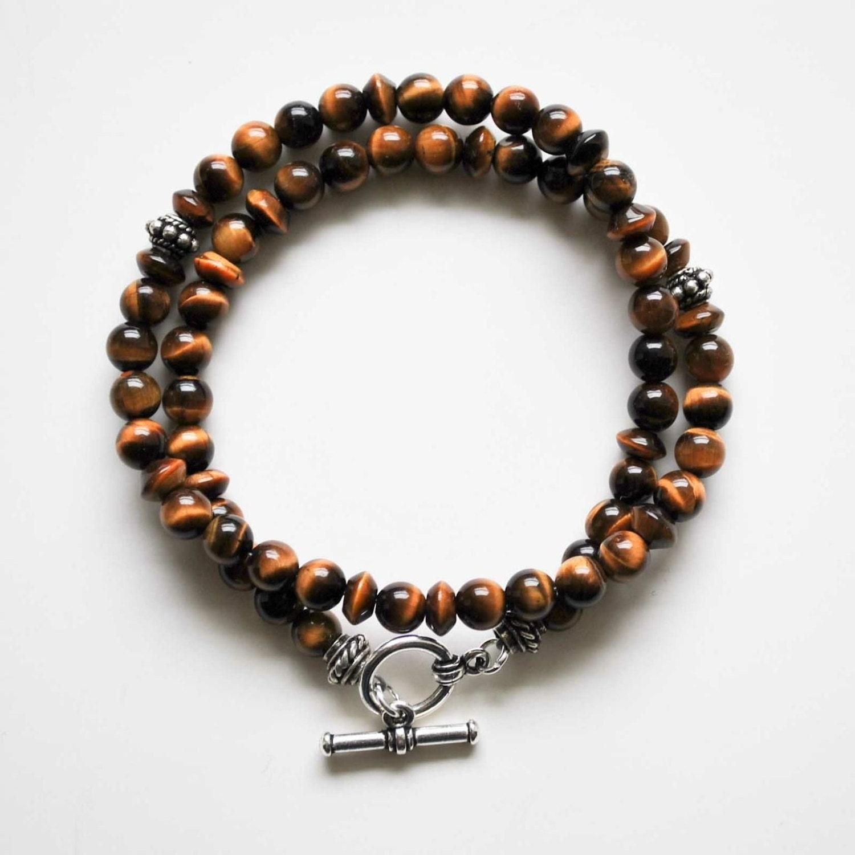 s bracelet tiger eye wrap bracelet by winkandbauble on