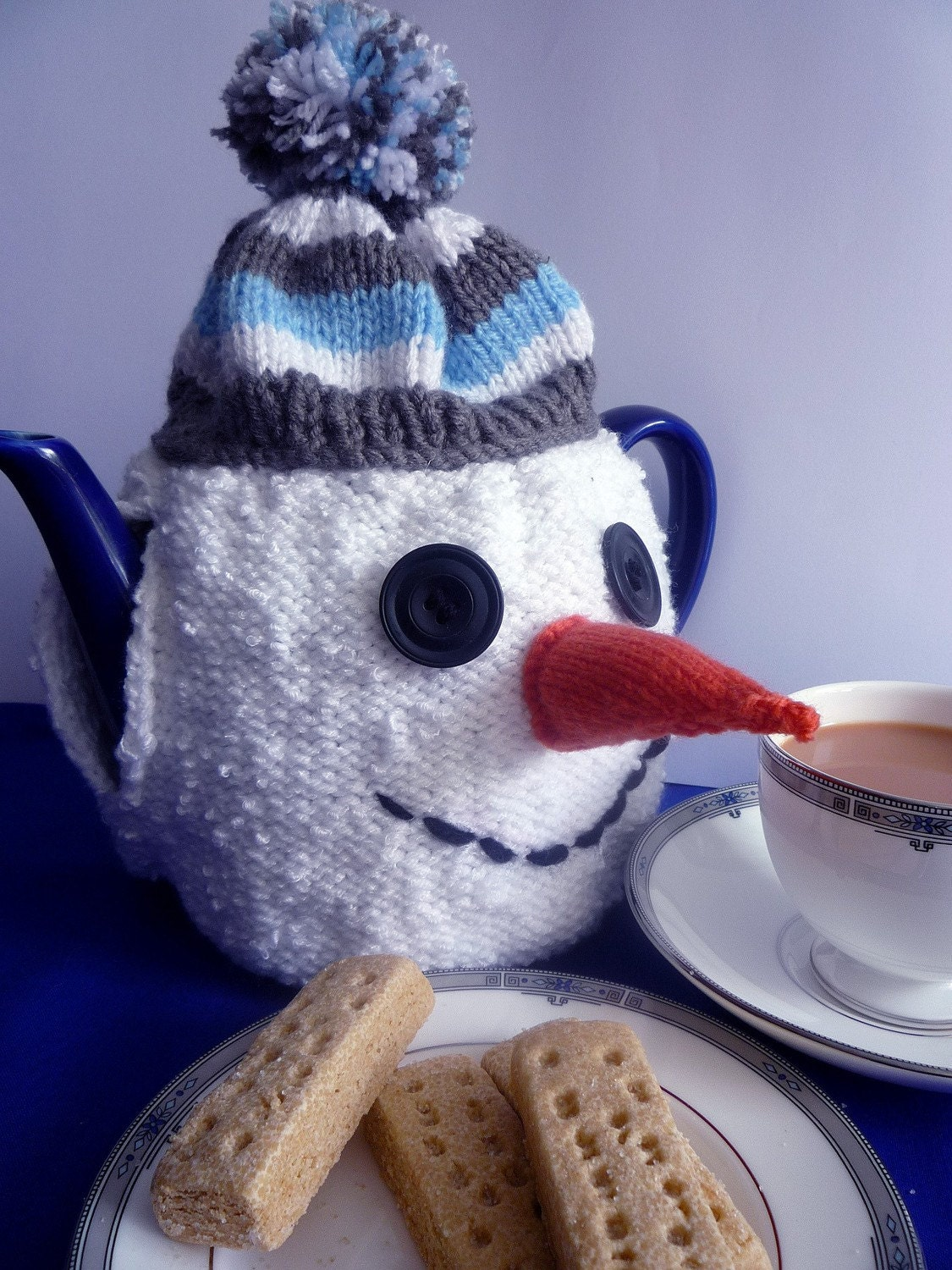 Knitting Pattern for SNOWMAN TEA COSY pdf by crazydazyknits