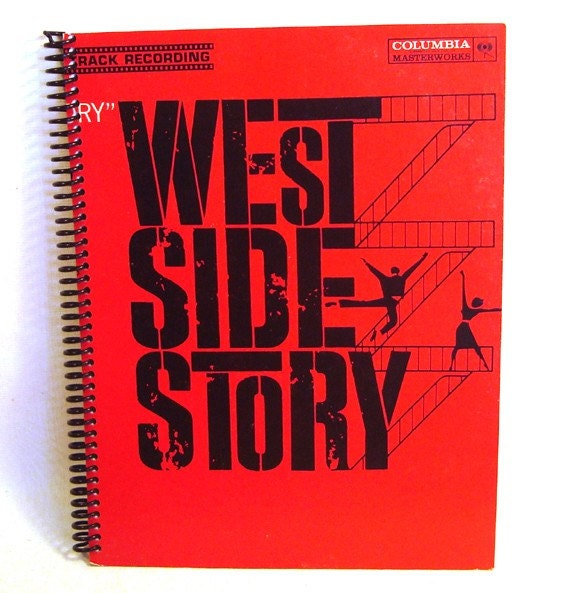 West Side Story -  Recycled Record Album Journal