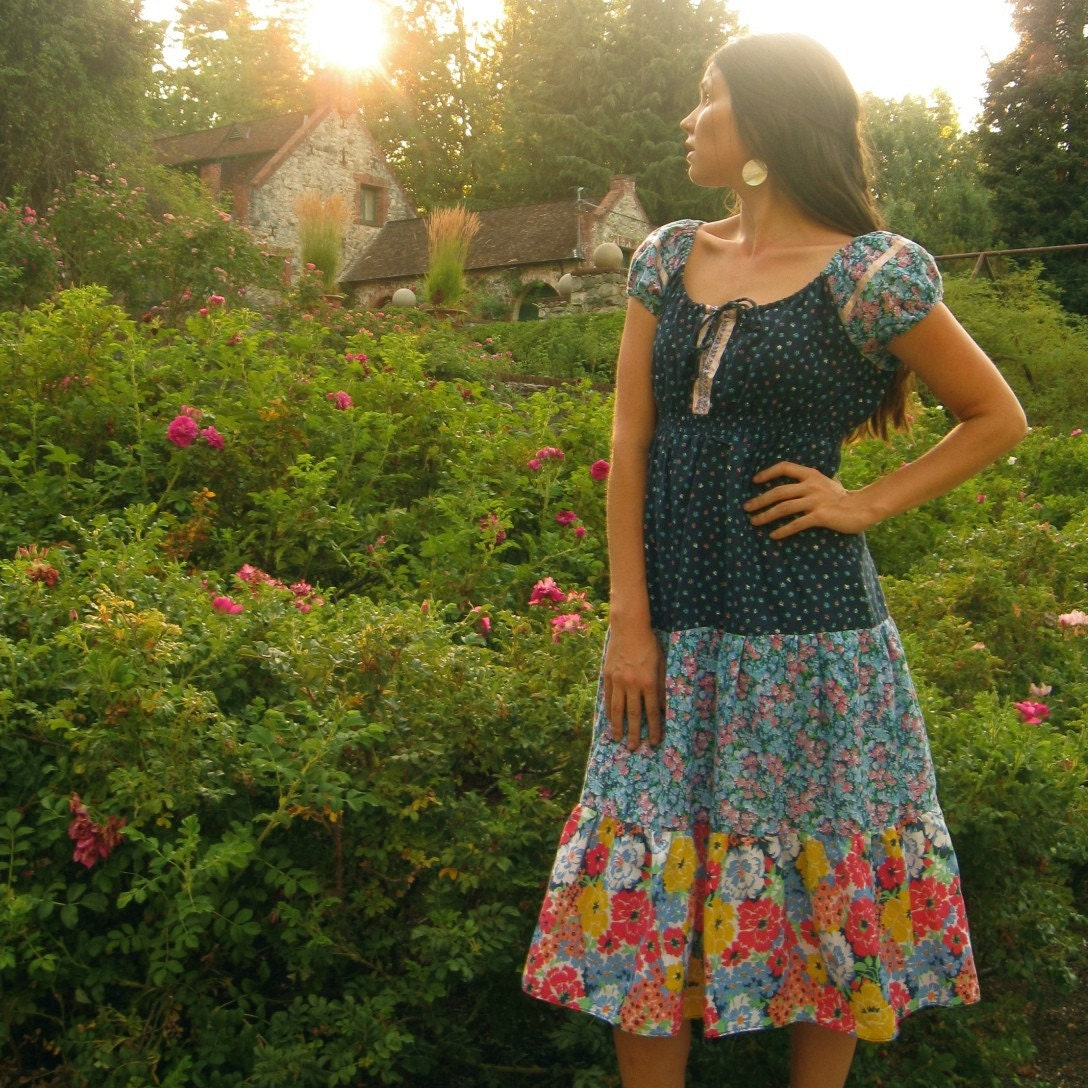 Floral Bohemian Rhapsody Summer Dress S/M