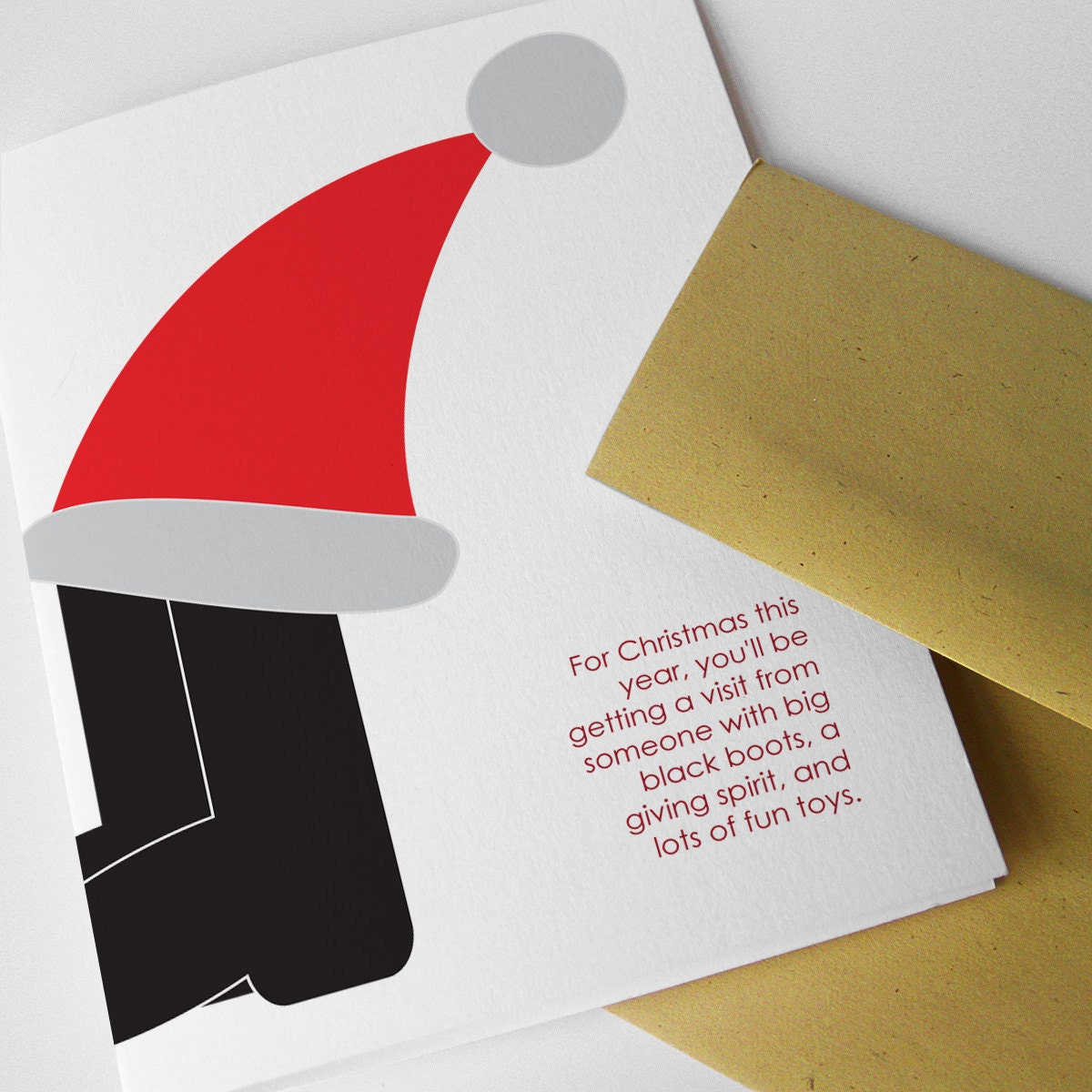 """Christmas Card, Adult, Funny, Humorous, """"For Christmas, a Prostitute"""" ..."""