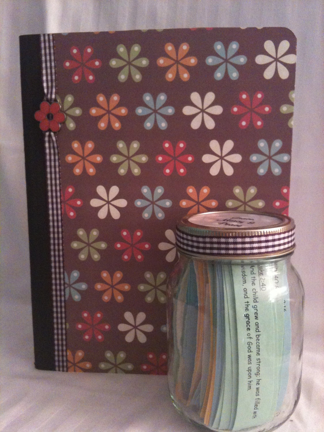 LM Scripture Journal Grace, Mercy and Peace neutral flowers