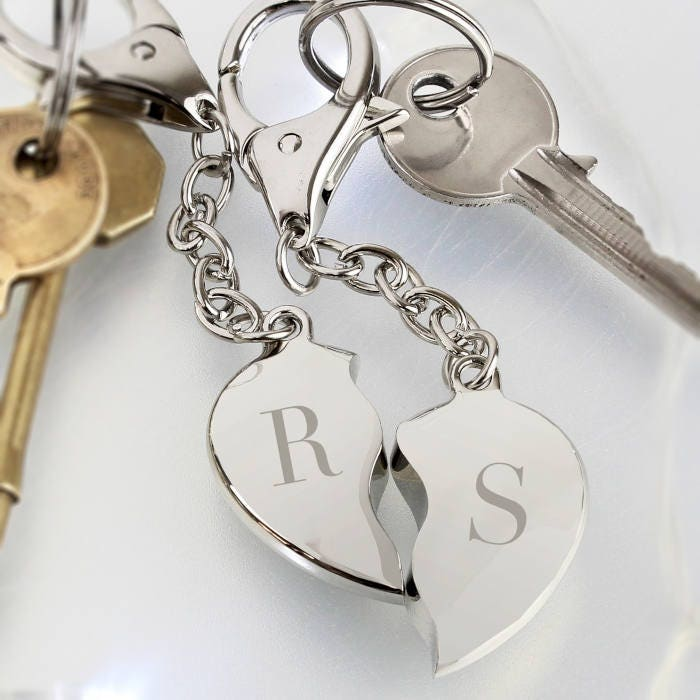 Personalised Initial Keyring Wedding gift for couple Valentines Day Gift Anniversary Gift Key ring Keychain