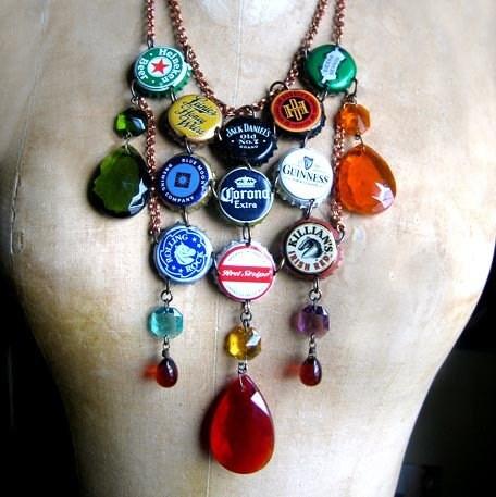 Bottle Cap Necklaces Etsy
