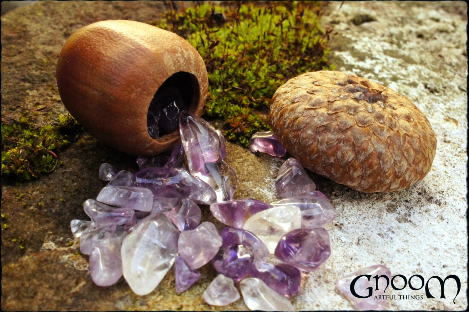 Acorn Wish Box Pendant - A Gift from the Gnoom Forest - GnoomArtfulThings