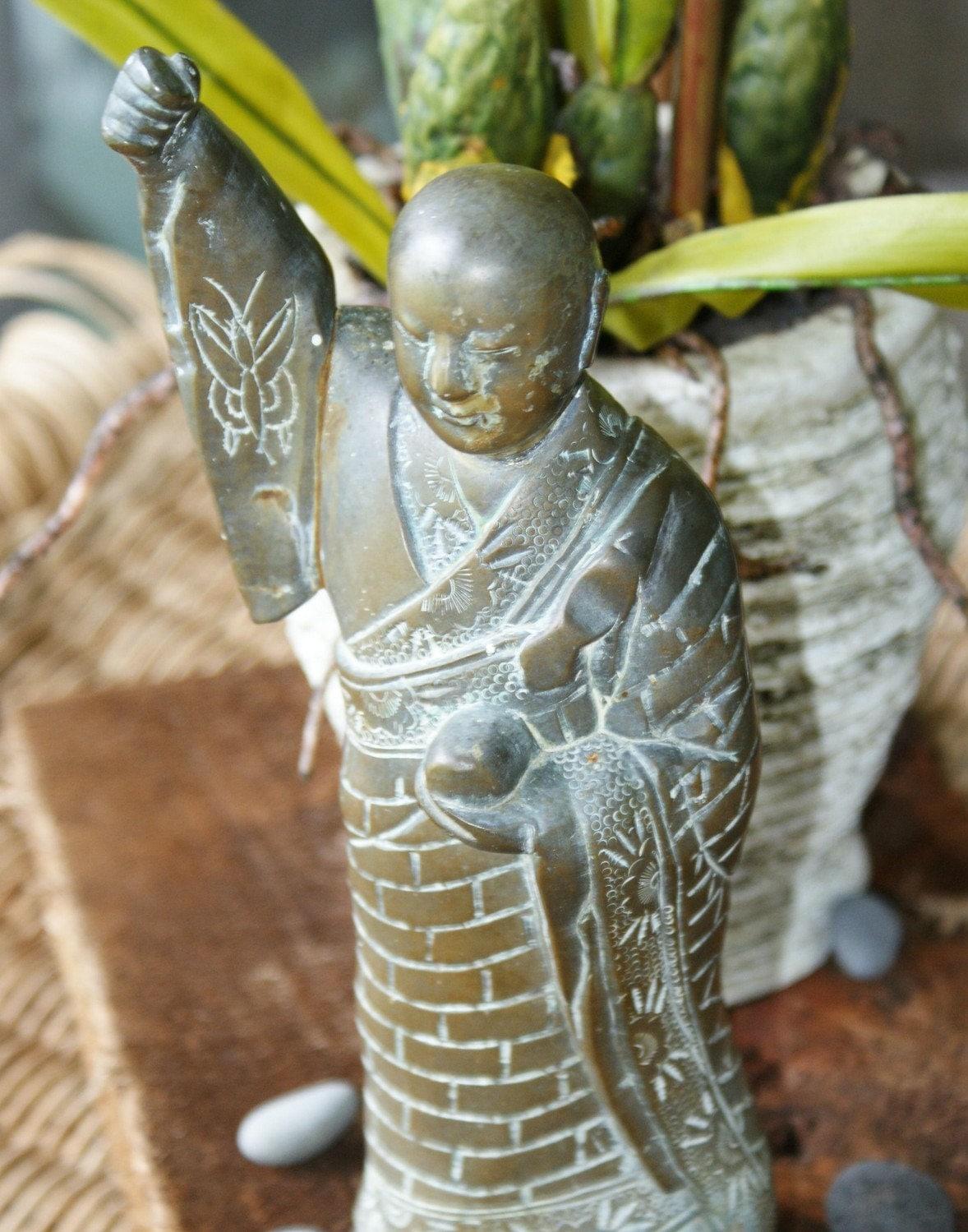Vintage Solid Brass Buddha