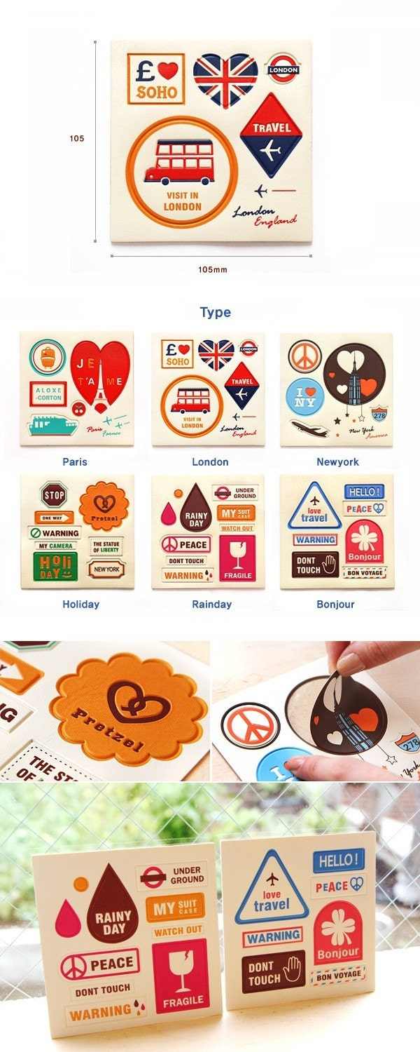 Leather Travel Theme Point Sticker