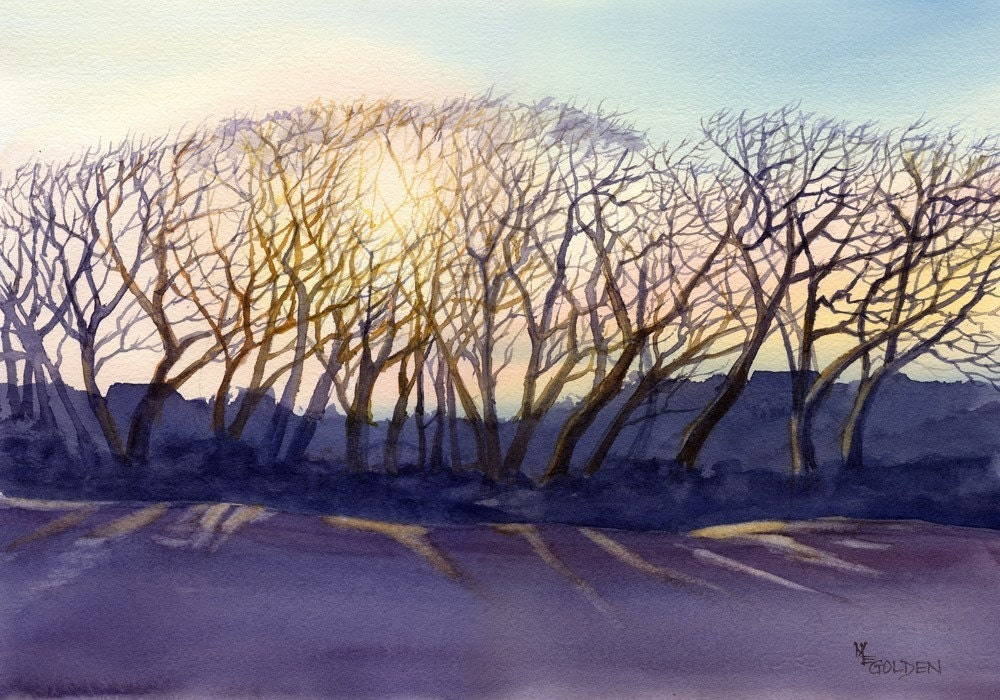 Topsail Trees -print