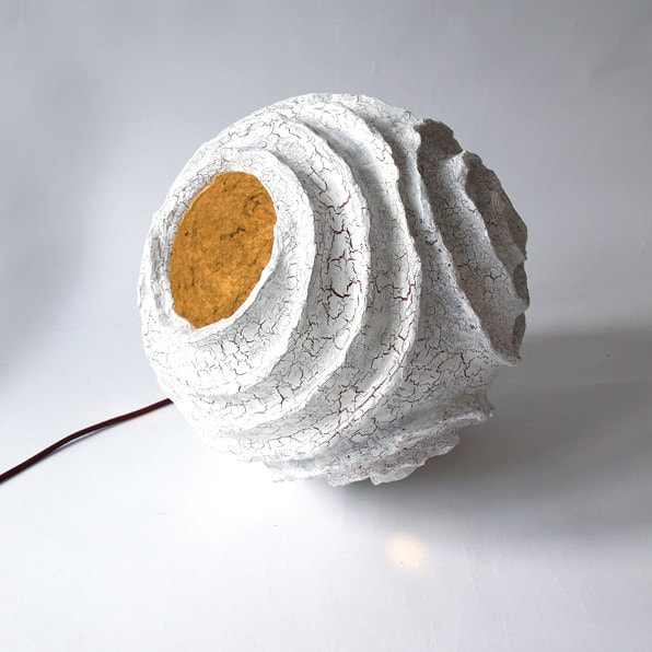 Items similar to floor lamp rosetta made of paper mache on for How to make paper mache lamps