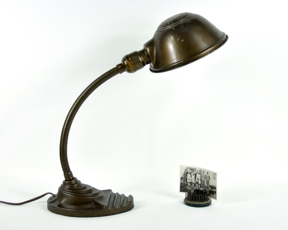 Reserved Vintage Industrial Gooseneck Desk Lamp By