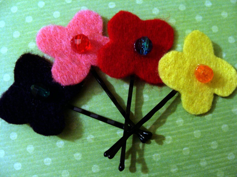 felt toddler hair pins