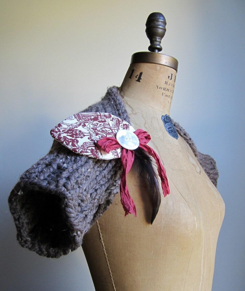 French Lady Mocha knit shrug
