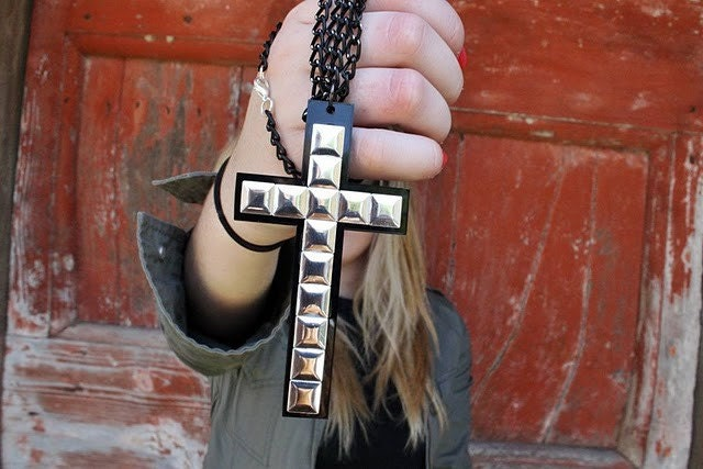 studded cross