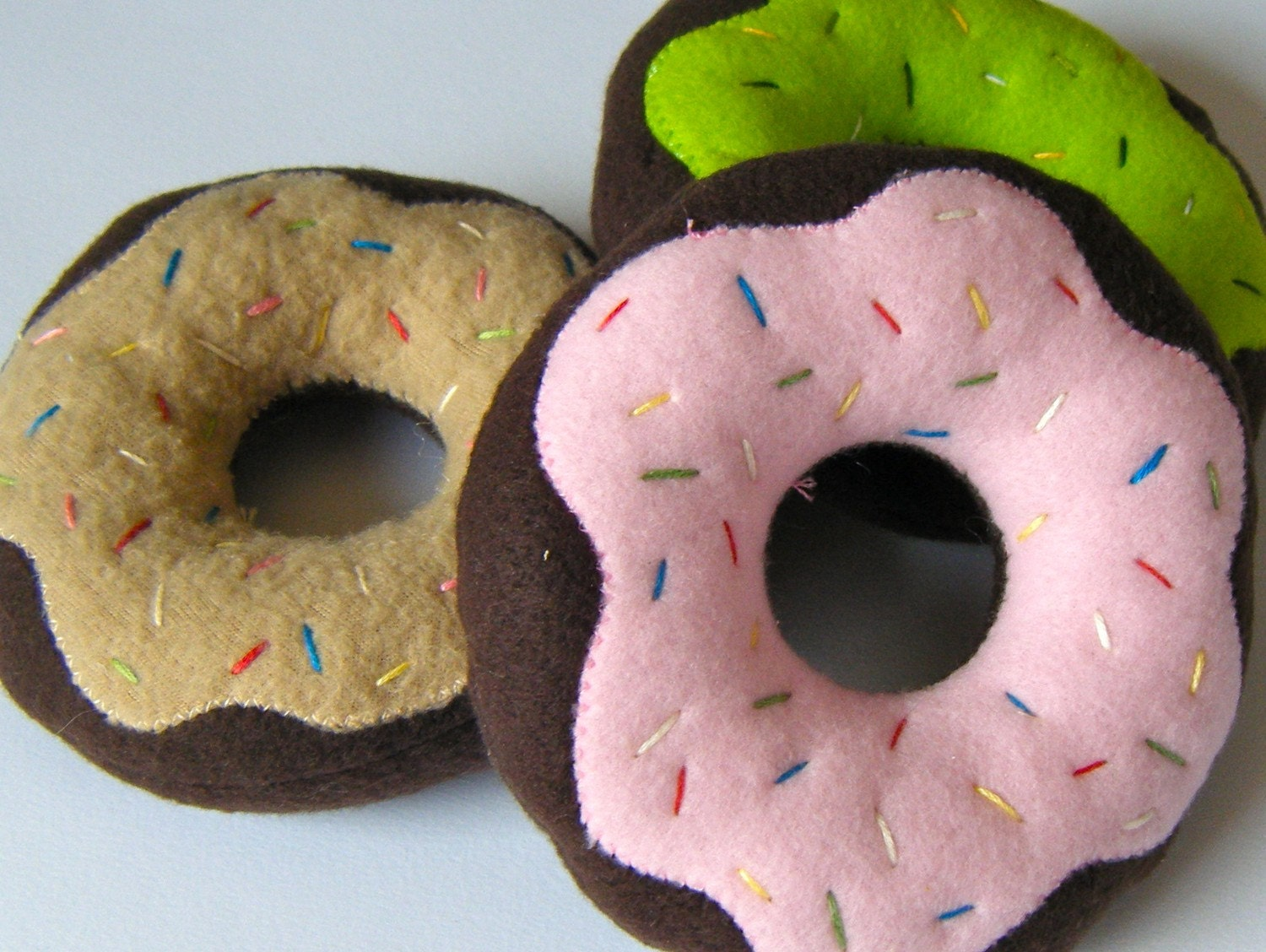 Yummy Heart Shaped Donut Squeaker Toys