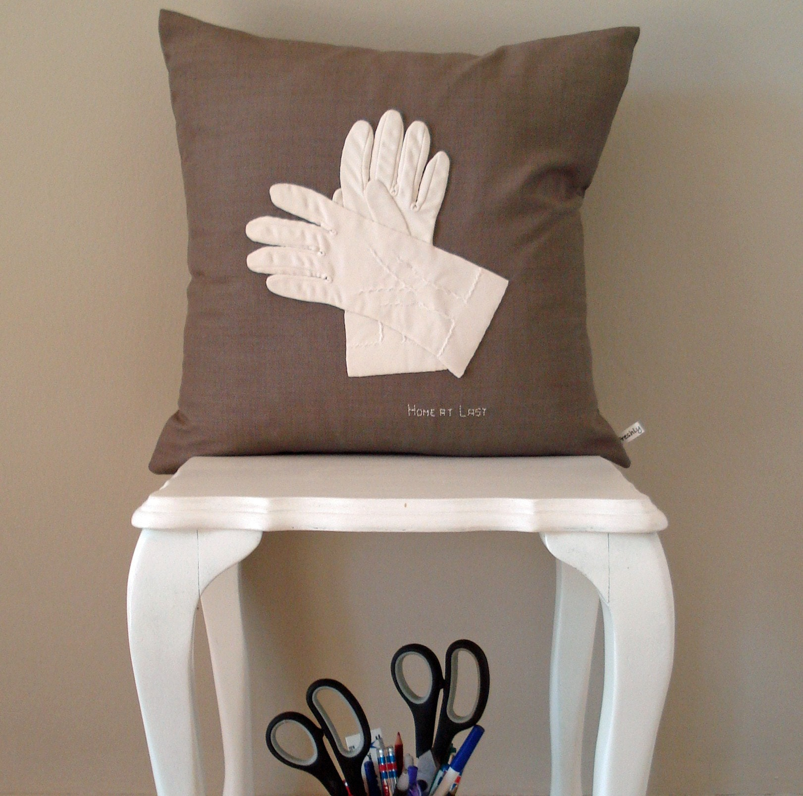 Glove Cushion Cover - Home at Last