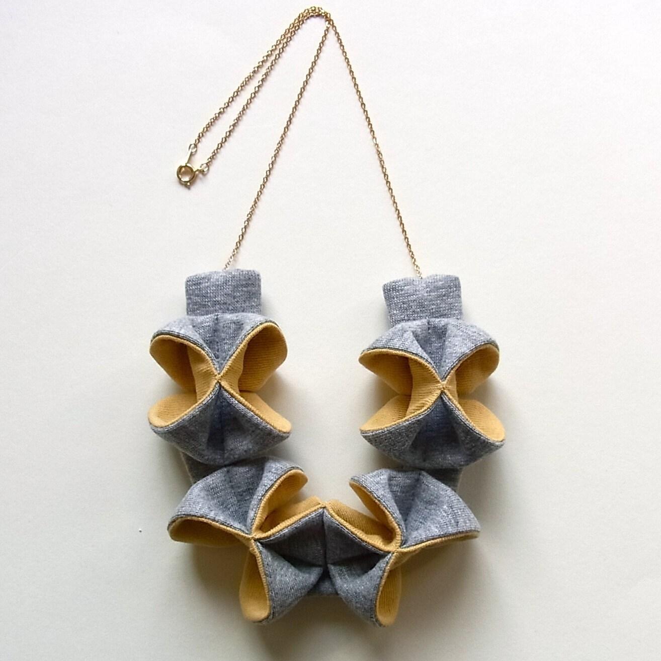 Origami Kuru Shou MIX -Light Gray x Yellow