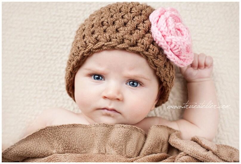 طراحی فروش گل قلاب دوزی خود را کلاه با کلیپ گل، نوزادان و کودکان، سرپا نگه داشتن عکس، سفارشی طناز