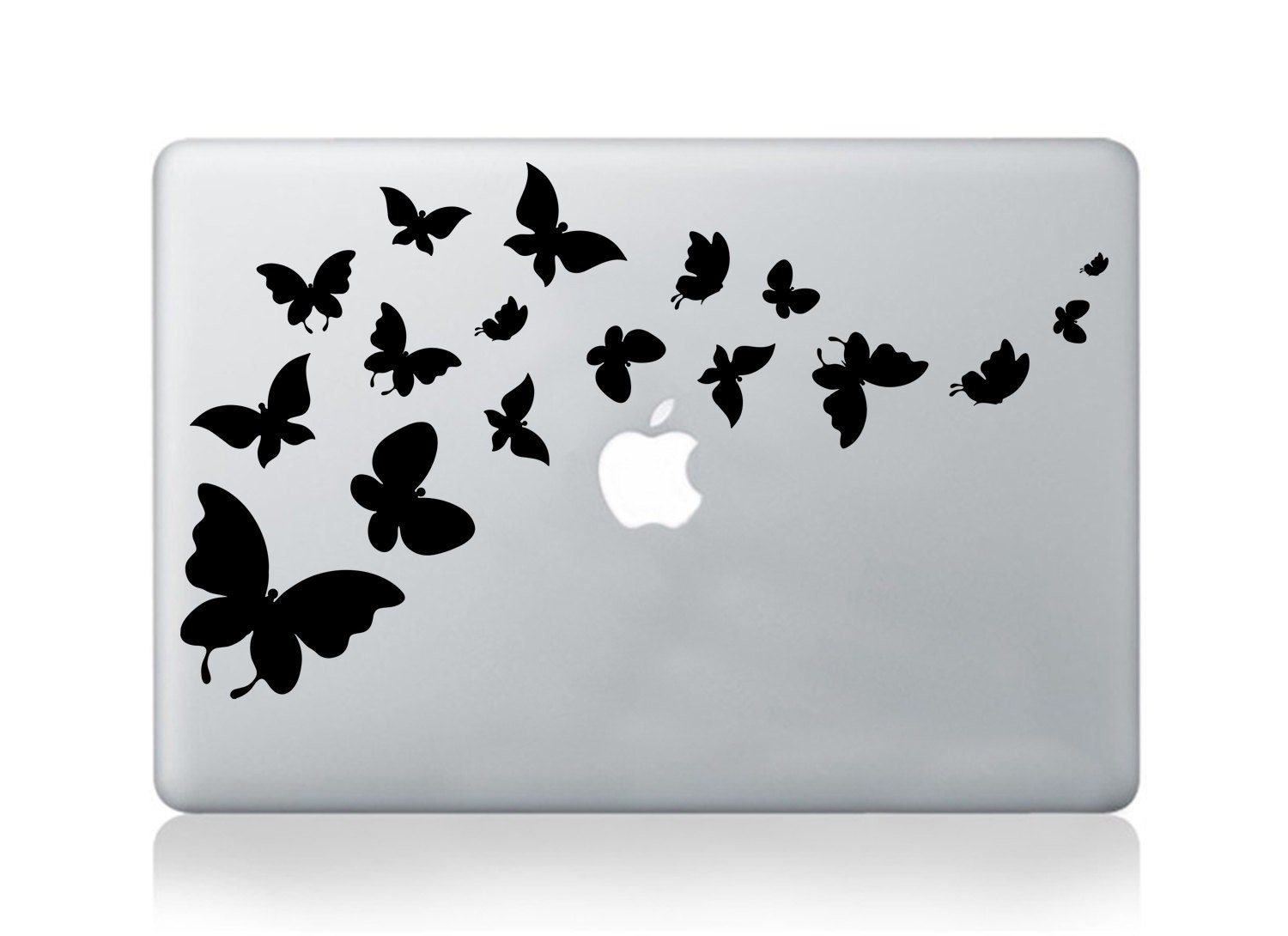 Macbook decal pro air butterflies vinyl sticker decal mural transfer graphic laptop notebook skin Asus HP Toshiba Dell butterfly decal