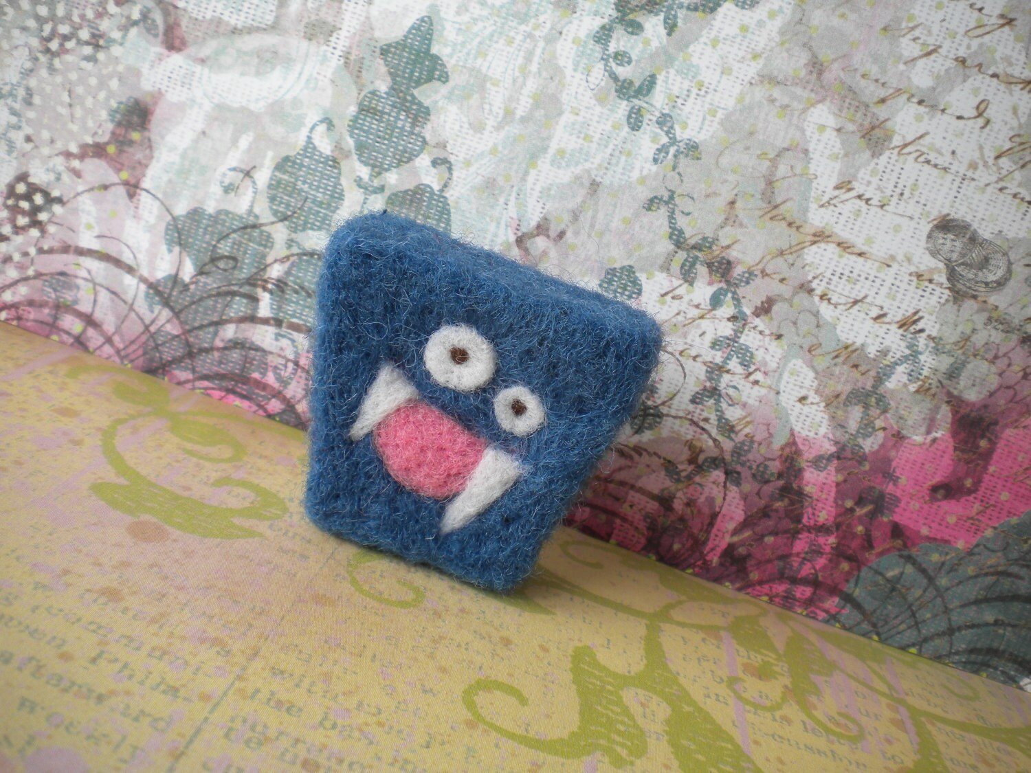 Sparky -Needle Felted Not-Me Monster