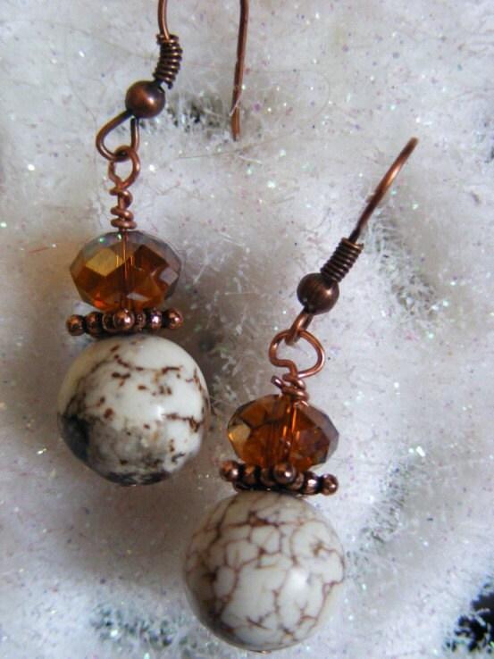 Brown Vein - Earrings