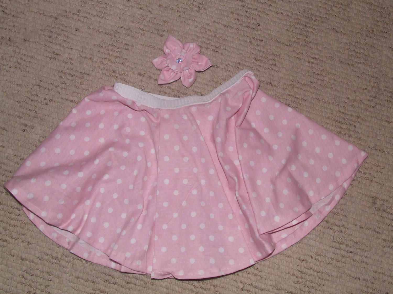 4T girls pink circle skirt