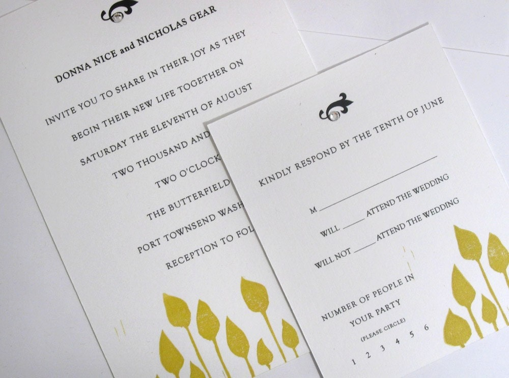 ecofriendly wedding invitations in orange so leafy wedding invitations