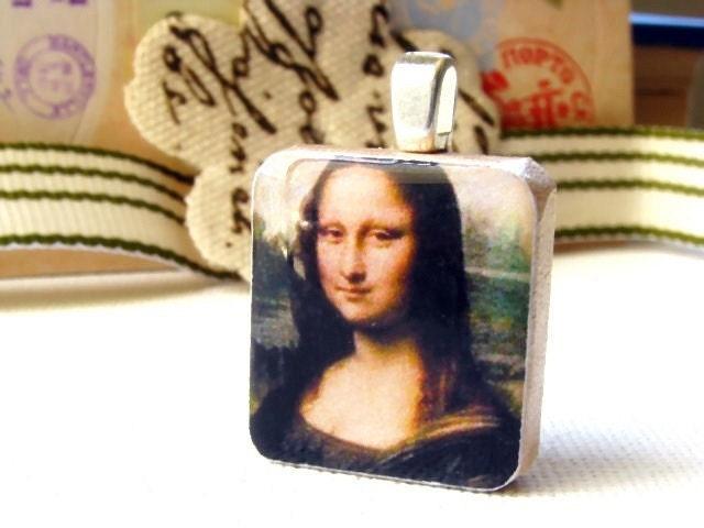Mona Lisa - A Scrabble Tile Pendant by sugarpanda on Etsy from etsy.com