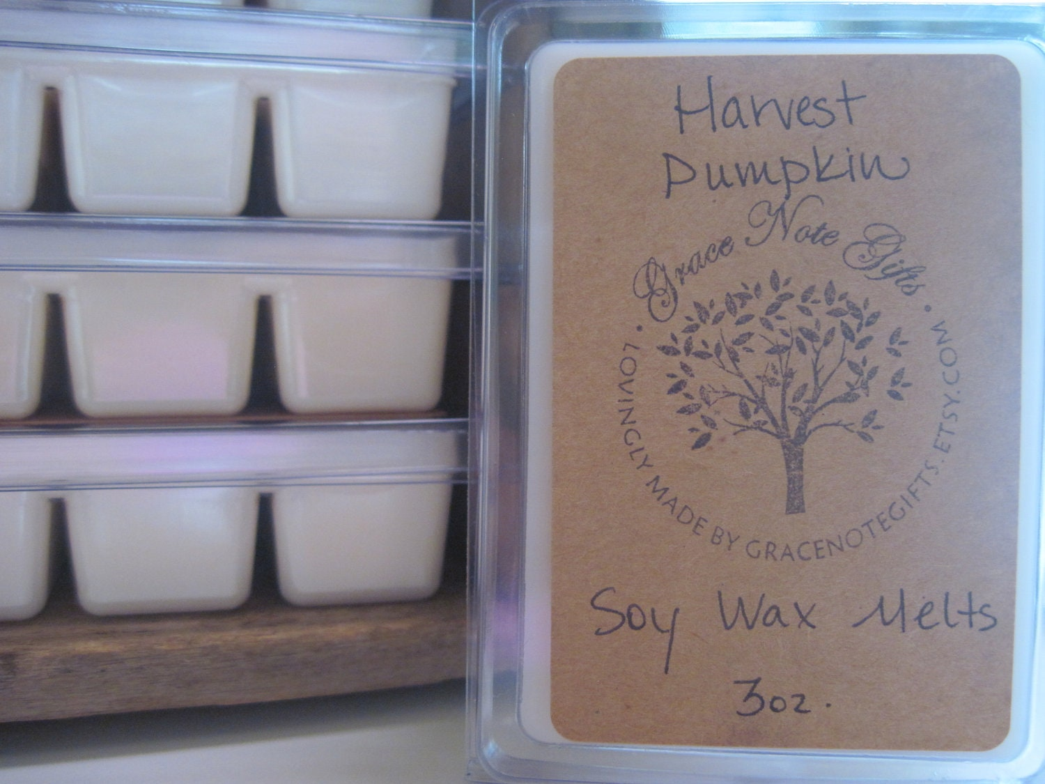 HARVEST PUMPKIN Soy Wax Tarts, Harvest Pumpkin Scented Soy Wax Melts, Soy Tarts, Soy Melts, Wax Tarts, Hand Poured Candle Melts - gracenotegifts