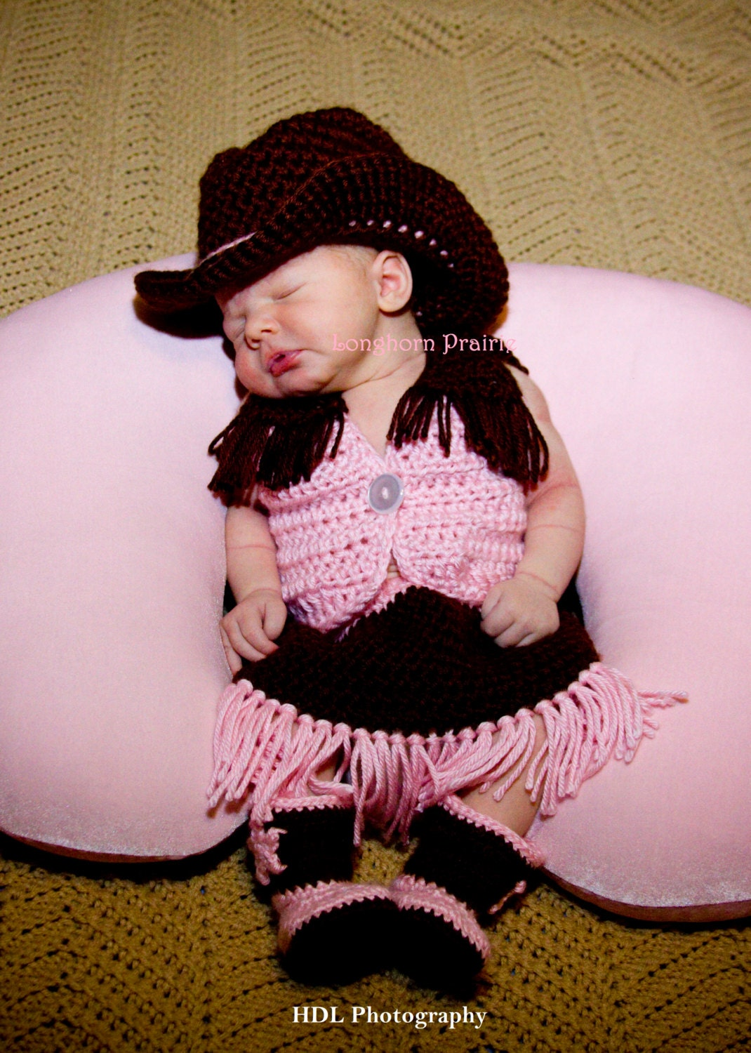 Items similar to baby cowgirl set hat boots vest skirt crochet on