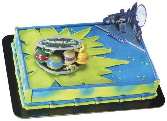 Teenage Mutant Ninja Turtles Cake Kit by ABirthdayPlace on Etsy