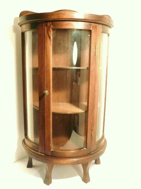 Small Curio Cabinets   Reserved Rare Small Standing Curio Cabinet Circa By  Pascalene