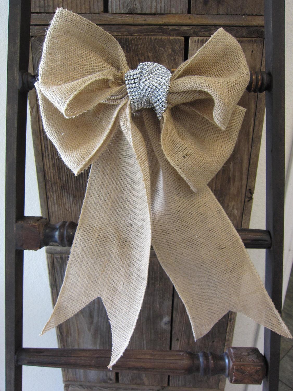 items similar to burlap bow decoration on etsy
