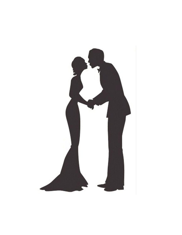 Wedding Couple Silhouette Handmade Cross-Stitch Pattern | eBay