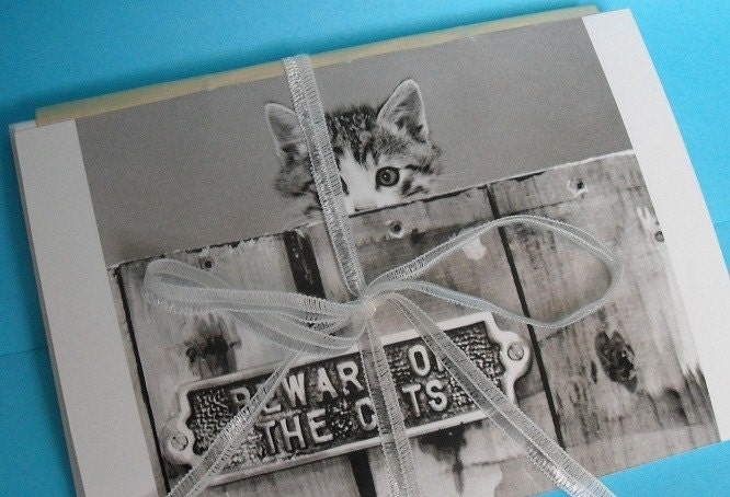 Classic Cat Journal or Notebook, Hand Sewn