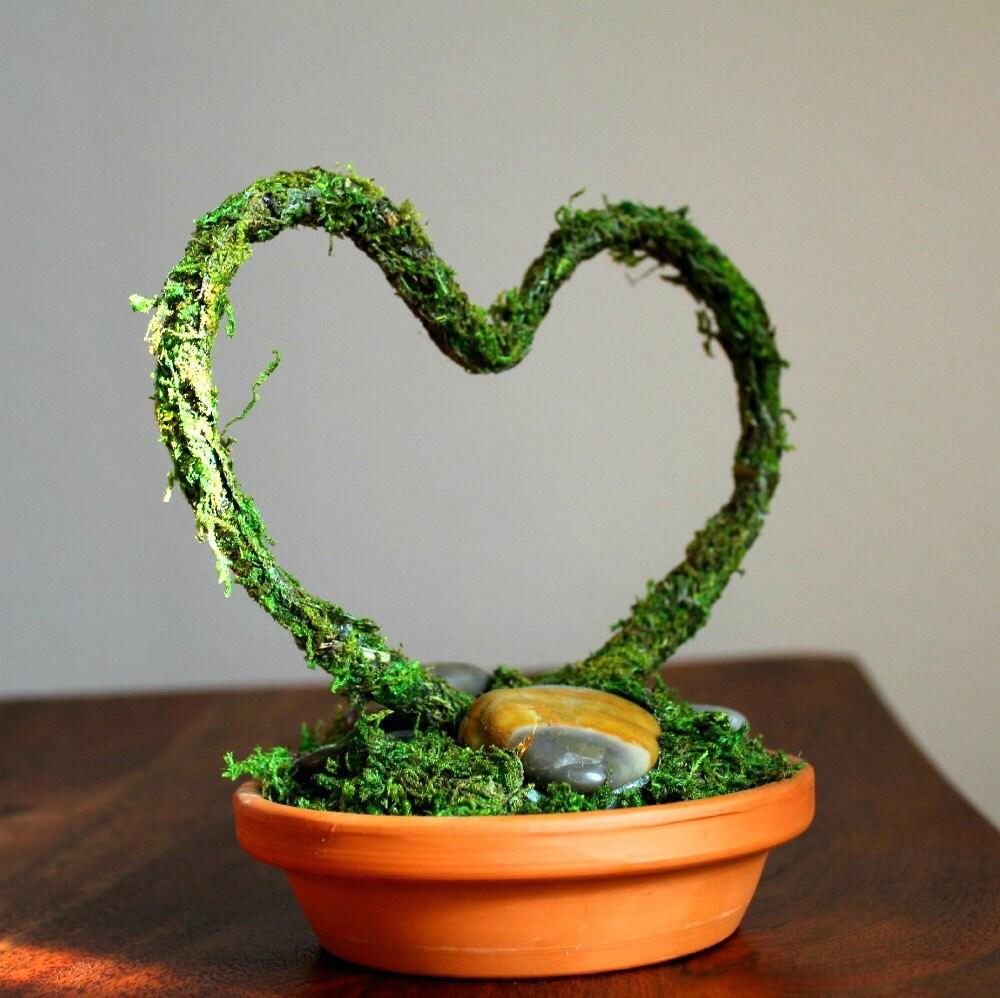 Мосс Сердце торт Топпер / Centerpiece