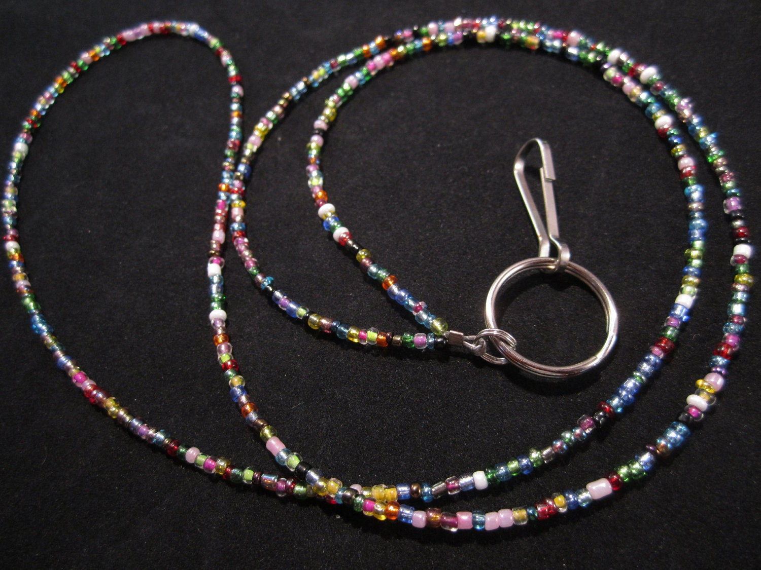 32 color beaded id lanyard beaded id badge holder by