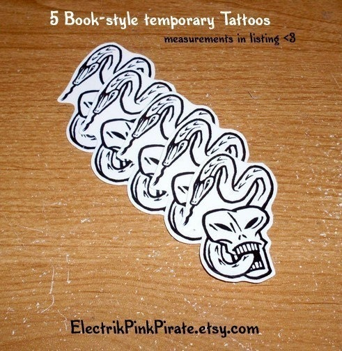 Harry potter dark mark temporary tattoo You are bidding on TEN (10) Hard to Find/Brand New/Never Used Voldemort Dark Mark Death Eater TATTOOs Retail Price