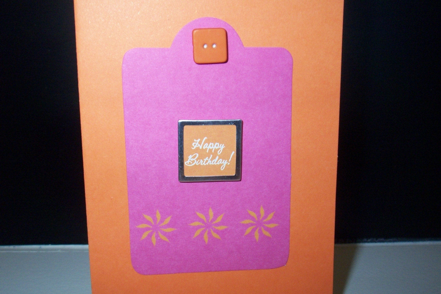 Bright birthday greeting card