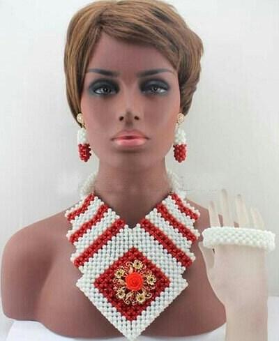 New Chunky Big African Beads Jewellery Set